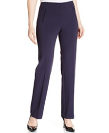 Style & Co Petite Straight-Leg Tummy-Control Pants