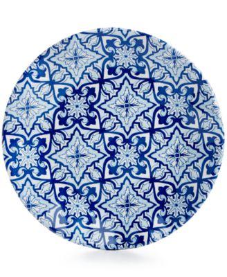 "Talavera Azul Collection Melamine 5.5"" Appetizer Plate, Set of 4"