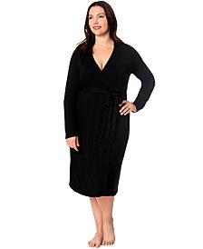 Motherhood Maternity Plus Size Nursing Nightgown And Robe