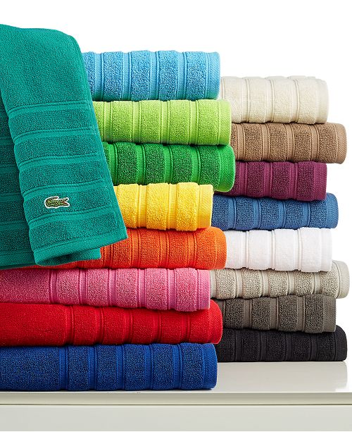 "Lacoste Towels Clearance: Lacoste CLOSEOUT! Croc Solid 16"" X 30"" Hand Towel"