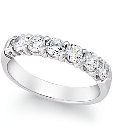 Seven-Stone Certified Diamond Band (1 ct. t.w.) in 14k White Gold