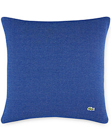 "Lacoste Home Auckland Blue Caviar Knit 18"" Square Decorative Pillow"