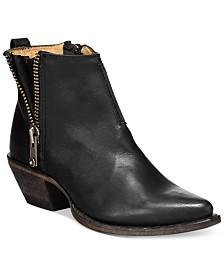 Frye Sacha  Side Zip Moto Booties