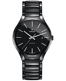 Men's Swiss Automatic True Black High-Tech Ceramic Bracelet Watch 40mm R27056152