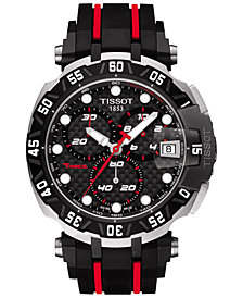 Tissot Men's Swiss Chronograph T-Race MotoGP Limited Edition 2015 Black Rubber Strap Watch 45mm 	T0924172720100
