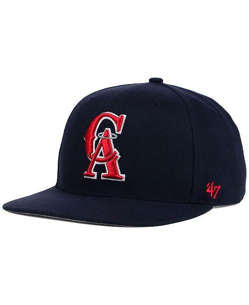 release date: big sale elegant shoes 47 Brand Los Angeles Angels of Anaheim Sure Shot Snapback Cap ...