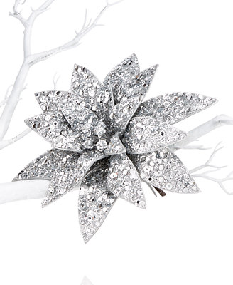 Holiday lane sequin poinsettia clip on tree ornament only at macy s