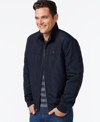Tommy Hilfiger Zip Front Bomber Jacket Coats amp Jackets Men Macys