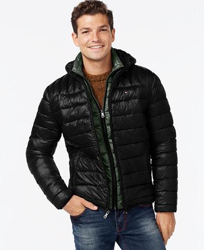 Tommy Hilfiger Hooded Packable Jacket Coats Amp Jackets