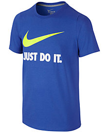 Nike Just Do It Swoosh Tee, Big Boys