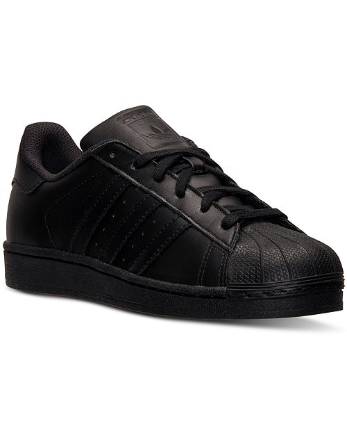 adidas superstar black mens