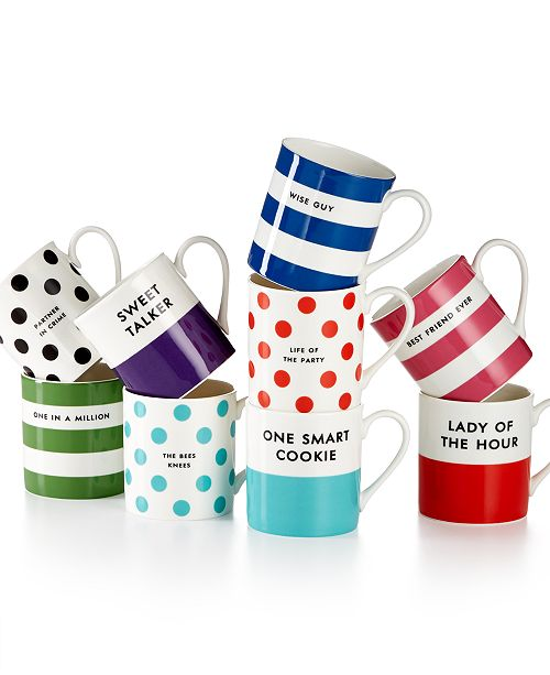 kate spade new york CLOSEOUT! Wit and Wisdom Mug, Created for Macy's