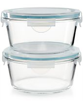 Martha Stewart Collection 4-Pc. Glass Food Storage Container Set, Created for Macy's