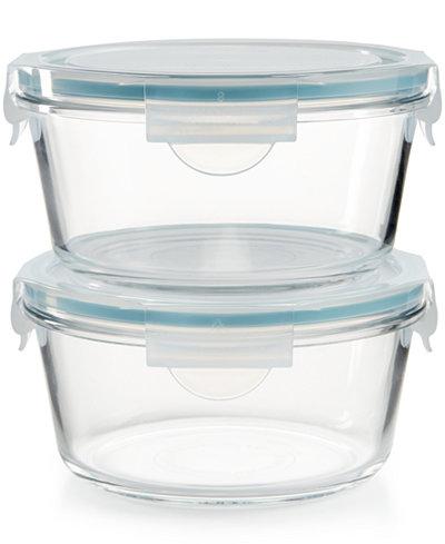 Martha Stewart Collection 4 Pc Glass Food Storage