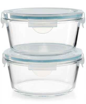 Martha Stewart Collection 4 Pc. Glass Food Storage Container Set, Created  For Macyu0027s