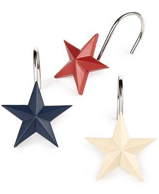 Avanti Bath, Texas Star Shower Curtain Hooks