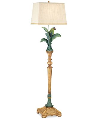 CLOSEOUT! Pacific Coast Tropical Parrot Resin Floor Lamp - Lighting ...
