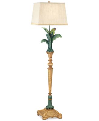 Pacific Coast Tropical Parrot Resin Floor Lamp