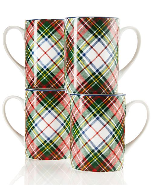Ralph Lauren CLOSEOUT! Set of 4 Holiday Mugs