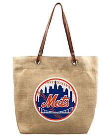 Little Earth New York Mets Burlap Tote Bag