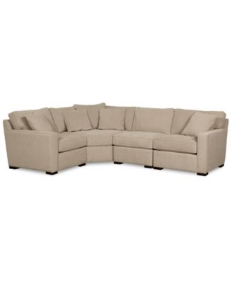 Radley Fabric 4-Piece Sectional Sofa, Created for Macy's