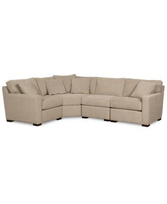 Delightful Radley Fabric 4 Piece Sectional Sofa, Created For Macyu0027s