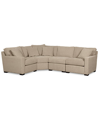Radley fabric 4 piece sectional sofa furniture macy39s for Radley fabric 5 piece sectional sofa