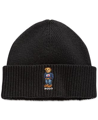 Polo Ralph Lauren Ribbed Embroidered Bear Hat