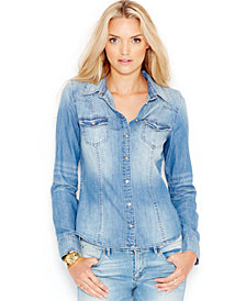 GUESS Slim-Fit Denim Shirt