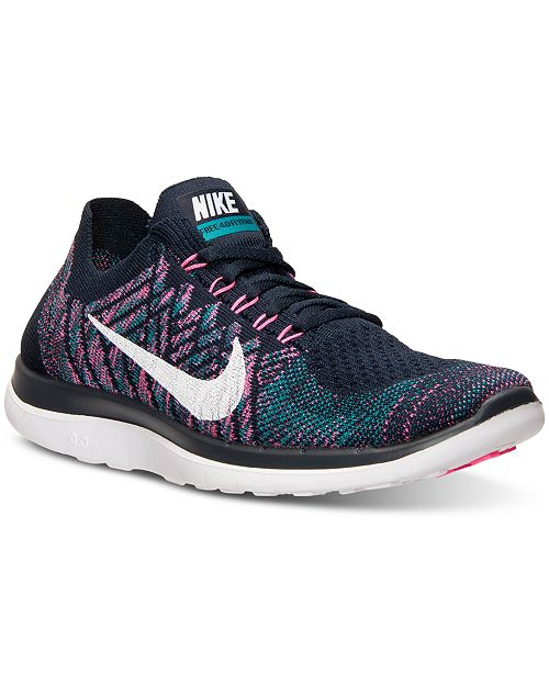 new arrivals b3ada 4a005 Nike Women s Free Flyknit 4.0 Running Sneakers from Finish Line