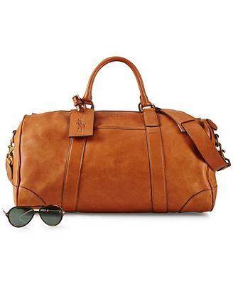 Polo Ralph Lauren Leather Duffel Bag - Accessories & Wallets - Men ...