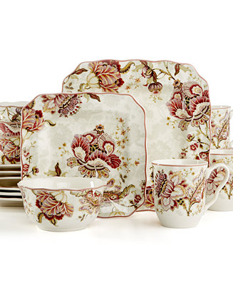 222 Fifth Gabrielle 16 Pc Set Service For 4 Dinnerware