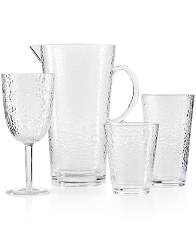 Certified International Clear Acrylic Drinkware Collection