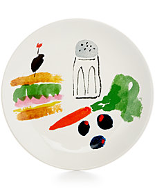 kate spade new york all in Good Taste Illustrated Coupe Sandwich Accent Plate