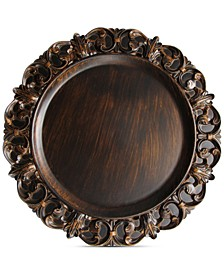 Jay Import Melamine Aristocrat Brown Embossed Charger Plate