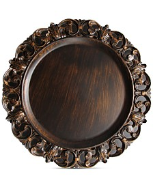 Jay Imports Melamine Aristocrat Brown Embossed Charger Plate