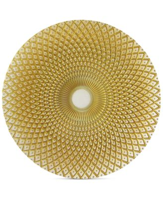 Glass Spiro Gold-Tone Charger Plate