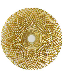 Jay Imports Glass Spiro Gold-Tone Charger Plate