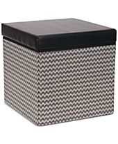Household Essentials Square Storage Ottoman