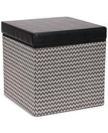 Household Essentials Square Storage Ottoman