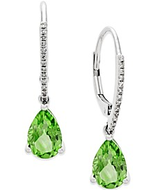 Peridot (2-1/2 ct. t.w.) and Diamond Accent Drop Earrings in 14k White Gold