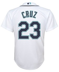 Majestic Kids' Nelson Cruz Seattle Mariners Replica Jersey, Big Boys (8-20)