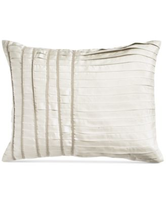 "CLOSEOUT!  Silk Essentials Pearl 16"" x 20"" Pleated Decorative Pillow"