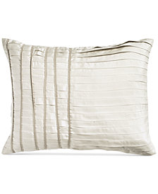"CLOSEOUT! Donna Karan  Silk Essentials Pearl 16"" x 20"" Pleated Decorative Pillow"