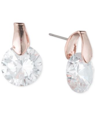 Image of Anne Klein Round Crystal Stud Earrings