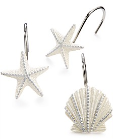 Bath, Sequin Shells Shower Curtain Hooks
