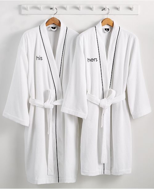 lace up in popular style new images of His or Hers Robe, 100% Turkish Cotton, Created for Macy's