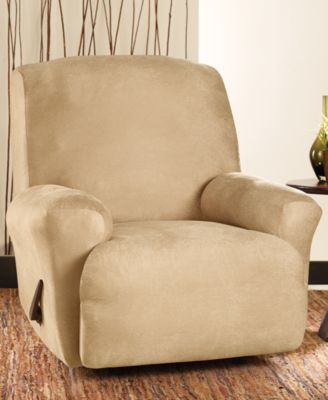 Stretch Faux Leather One Piece Recliner Slipcover