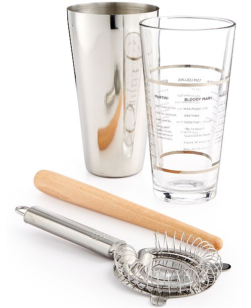 Martha Stewart Collection 4-Pc. Boston Shaker Set, Created for Macy's