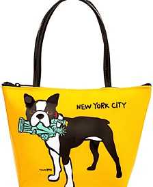 NYC Boston Mini Zip Tote